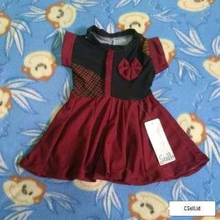 🆕 Dress Baby, Maroon