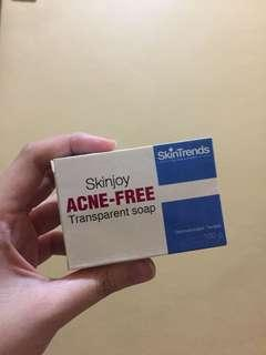 SKIN JOY TRANSPARENT SOAP FOR ACNE PRONE FROM SKIN TRENDS