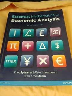 Essential Mathematics for Economics Analysis FOURTH EDITION