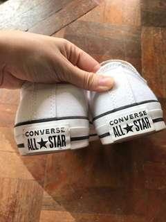 No Lace White Converse Shoe