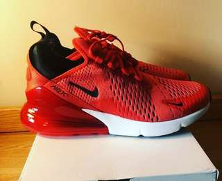 half off d3cac d70e0 Nike Air Max 270 Original Running Shoes Sneakers Women Red