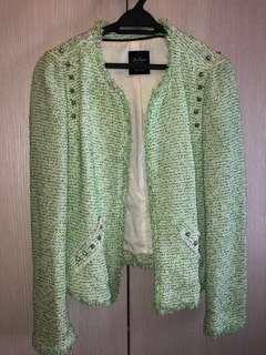 🆓POSTAGE!!! Zara Mint tweed Jacket