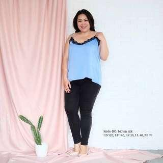 Tank Top Lace (Baby Blue - Big Size)