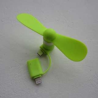 🚚 Portable Mini 2 in 1 Mobile Fan -Android/Iphone/Powerbank