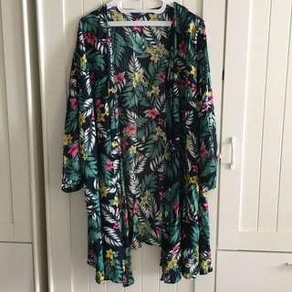 Tropical Pattern Kimono Outer
