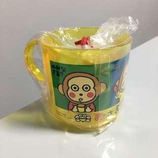全新1995年馬騮仔monkichi om膠杯