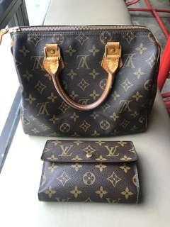 Jual Sepaket!! Louis Vuitton Speedy 25 & Trifold Wallet