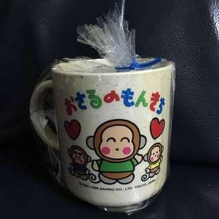 全新1996年馬騮仔monkichi om 膠杯