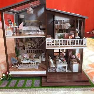 Finished DIY Wooden Dollhouse