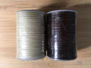 Waxed thread for leather sewing