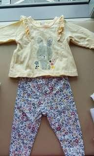 Baby Clothes 0-3 months Top + Pants