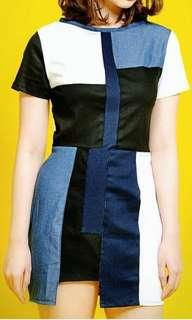 Dress kombinasi jeans