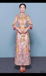 中式秀禾服结婚敬酒服 Chinese traditional wedding dress