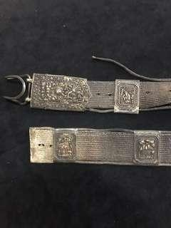 🚚 Turn of the Century 1900s Peranakan Silver Belt