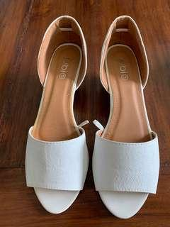 White open shoes
