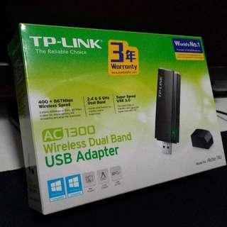 TP-link ac1300 wireless dual band usb adapter wifi usb手指