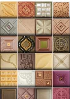 🚚 3D leather design wall cladding titles