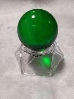🚚 綠琉璃水晶球(含座)(01)