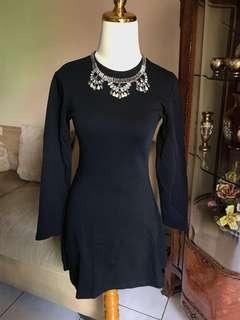 Black sweater dress zara