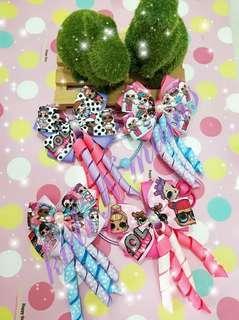 Handmade lol doll hair clips / hair ties