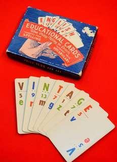 古董字母教育紙牌遊戲
