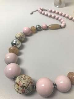 Cute pink bead necklace