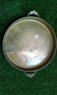 Antique plate with carving