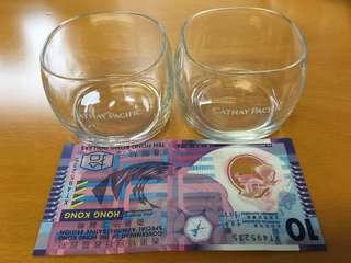 國泰 Cathy Pacific 玻璃杯 小酒杯$30 一隻