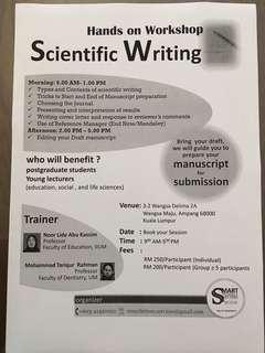 Scientific Writing Workshop