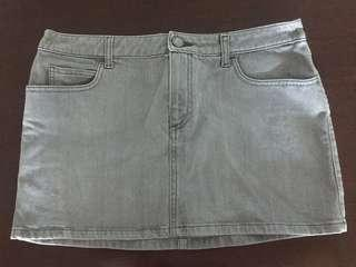 New Burberry Denim grey skirt UK12