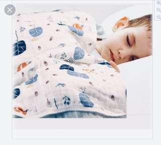 "🚚 New Aden + Anais Organic Dream Blanket brand new without box 3-layer cotton muslin ""into the woods"""