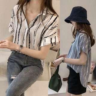 Korean style stripe shirt