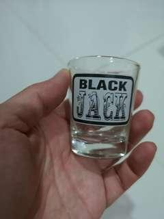 Shot Glass (Black Jack with recipe at the back)