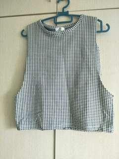 Gingham checkered crop top