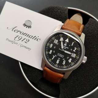 Aeromatic 德國飛行腕錶 (凸面反數字款軍錶 - A1372X)