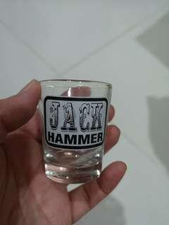 Shot Glass (Jack Hammer recipe at the back)