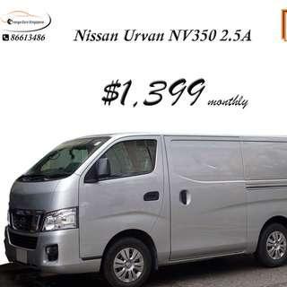 Nissan Urvan NV350 2.5A For Rent