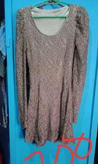 Preloved brown sexy dress