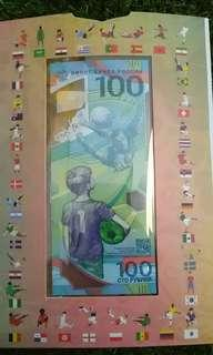2018 world cup football polymer note