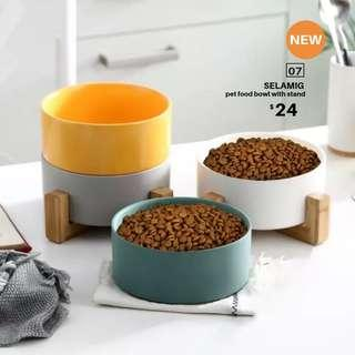 【BRAND NEW/NEW ARRIVAL】SELAMIG pet food bowl with stand