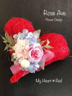 My Heart ❤︎ Red -Preserved  Flower Gift-