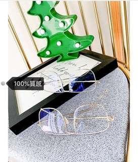 🚚 可議價🖤100%質感造型眼鏡 銀色