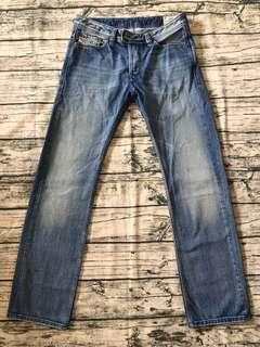 DIESEL w31 刷色直筒牛仔褲 #70