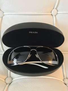 PRADA *Authentic* Sunglasses SPR74G Black Silver