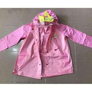Gently used Disneyland Pink Raincoat, fit for 4-6 girls, HK$20
