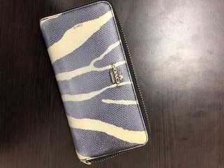 Printed Coach Accordion Zip Long Wallet