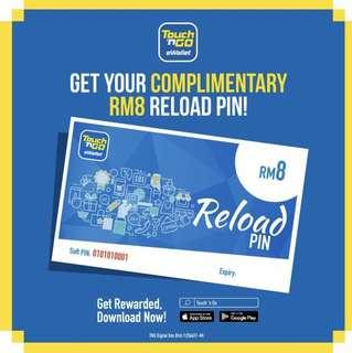 Free RM8 Touch N Go credit