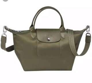 Authentic Longchamp Le Pliage Neo (Khaki Green)