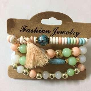 Summer pastel colored bracelets