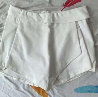 white basic skorts